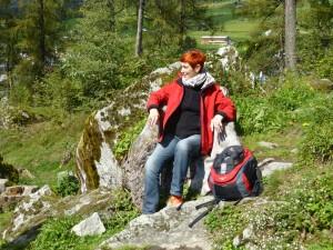Foto von Cornelia Grass in den Bergen